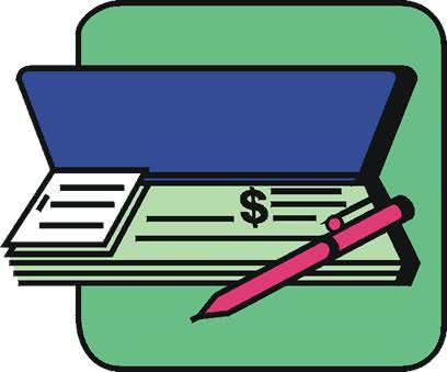 Modelo de recibo de pagamento em cheque