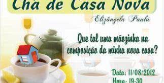 Modelos de convite para chá de casa nova