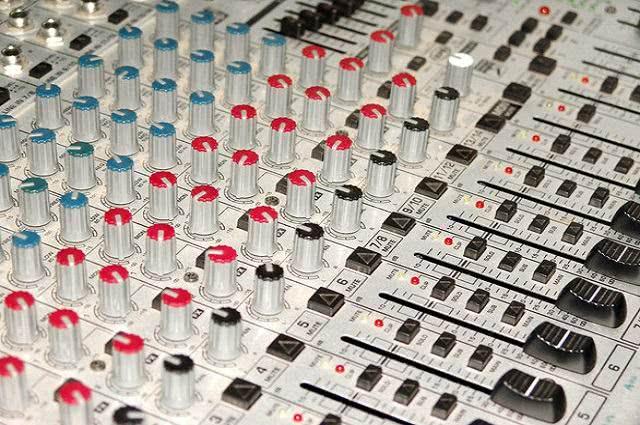 Botões de aparelho de som