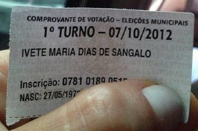 Imagem de comprovante de votação da cantora Ivete Sangalo postado no Instagram