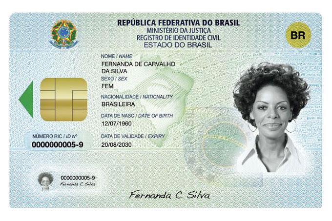 O RG com chip será implantado gradativamente nos estados brasileiros