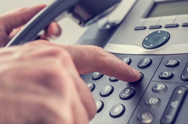Digitando números de telefone