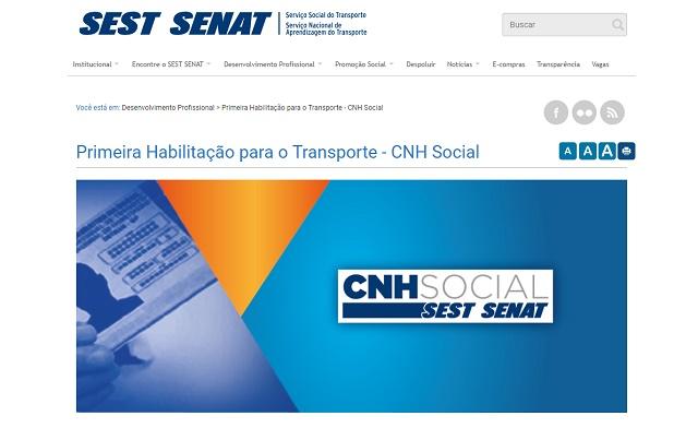 Site do SEST/SENAT